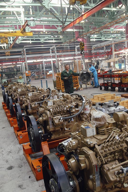 Truck factory diesel engine assembly