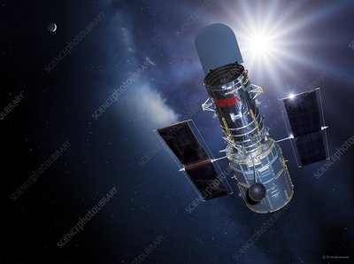 Hubble Space Telescope, artwork