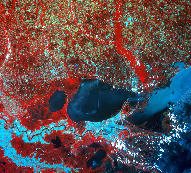 'New Orleans From Space, 1988'