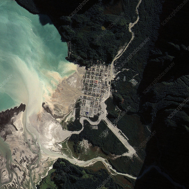 Town of Chaiten after Volcanic Eruption