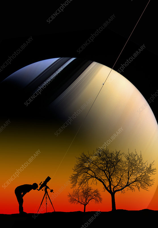 Saturn and Astronomer