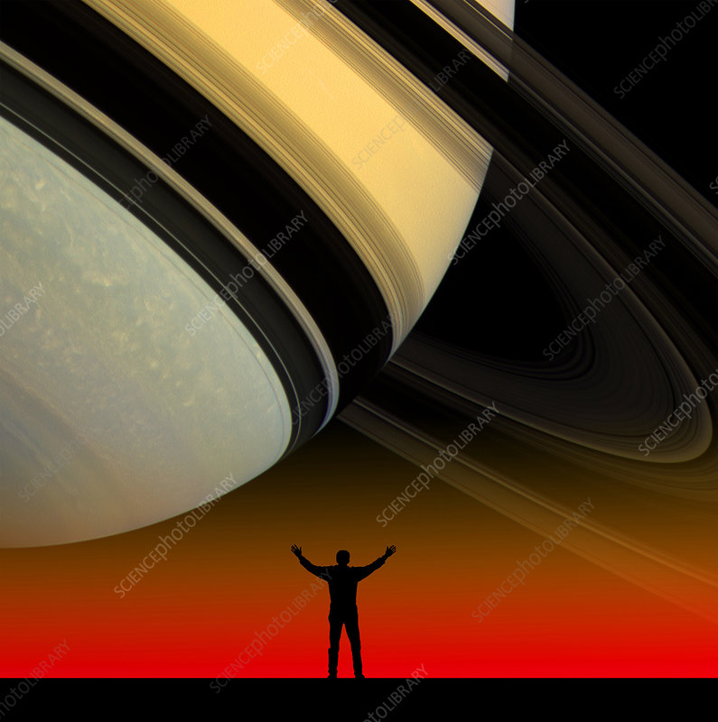 Saturn with Silhouette