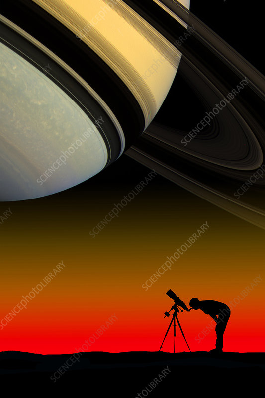 Astronomer with Telescope