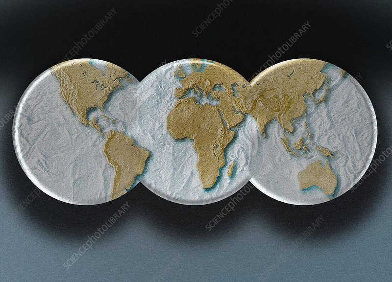 Relief Map of Earth