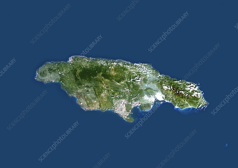 Jamaica, satellite image