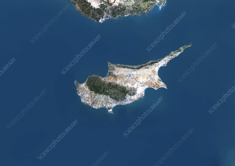 Cyprus, satellite image