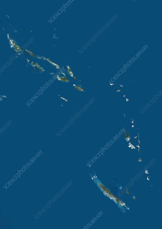 Eastern Melanesia, satellite image