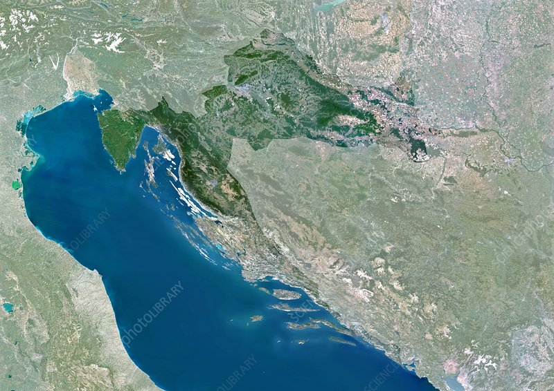 Croatia, satellite image