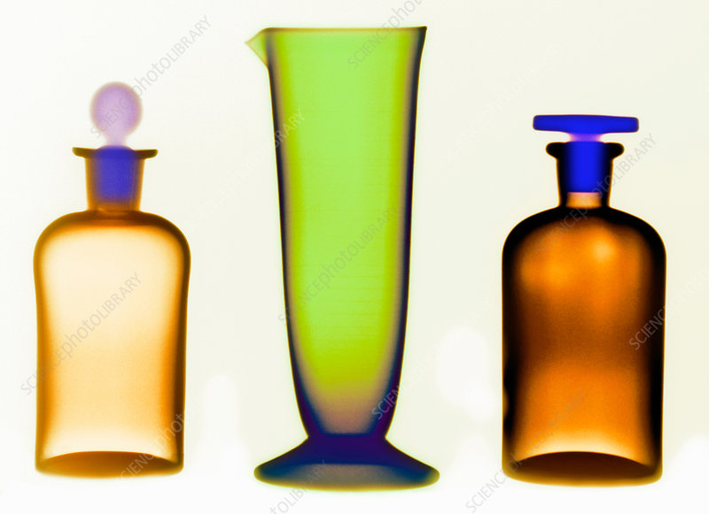 X-ray of Glassware Bottles