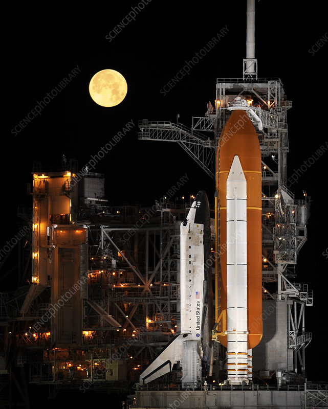 Space Shuttle Discovery on Launch Pad