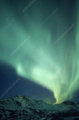 Aurora Borealis on Aurora Borealis  Ak    Stock Image C003 4040   Science Photo Library