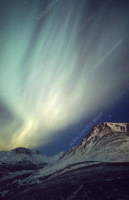 Aurora Borealis on Aurora Borealis  Ak    Stock Image C003 4041   Science Photo Library