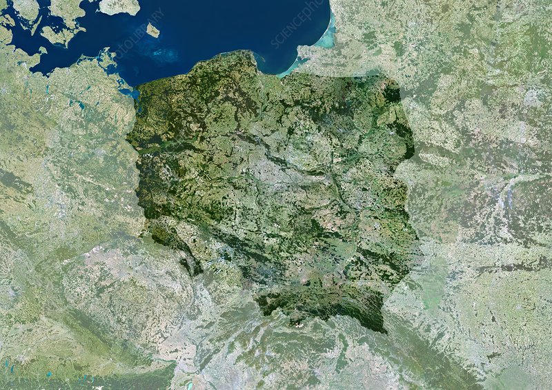 Poland, satellite image