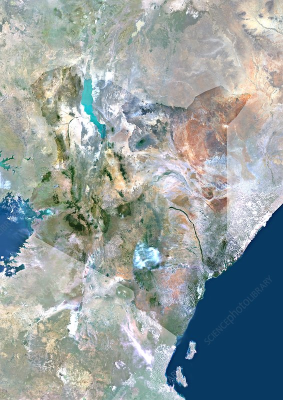 Kenya, satellite image