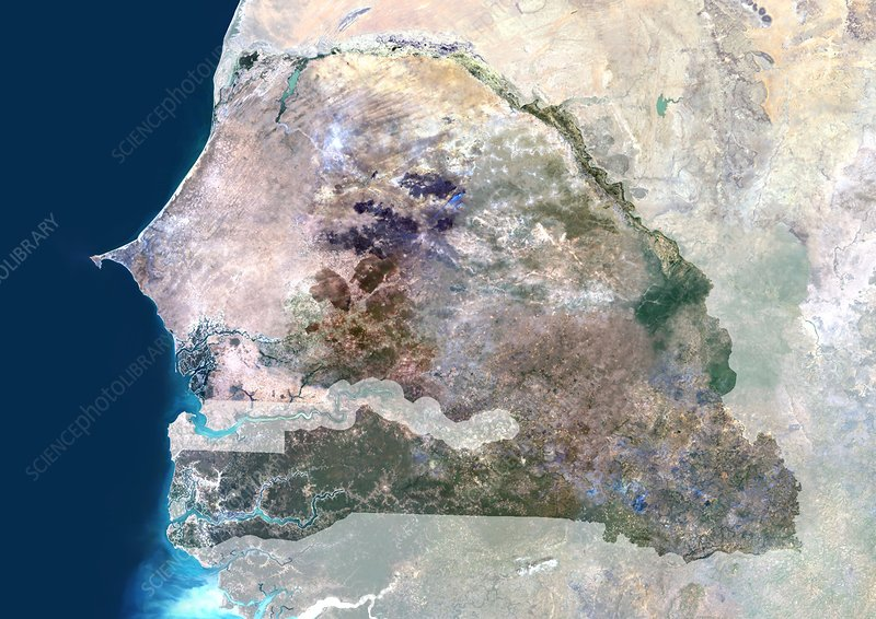 Senegal, satellite image