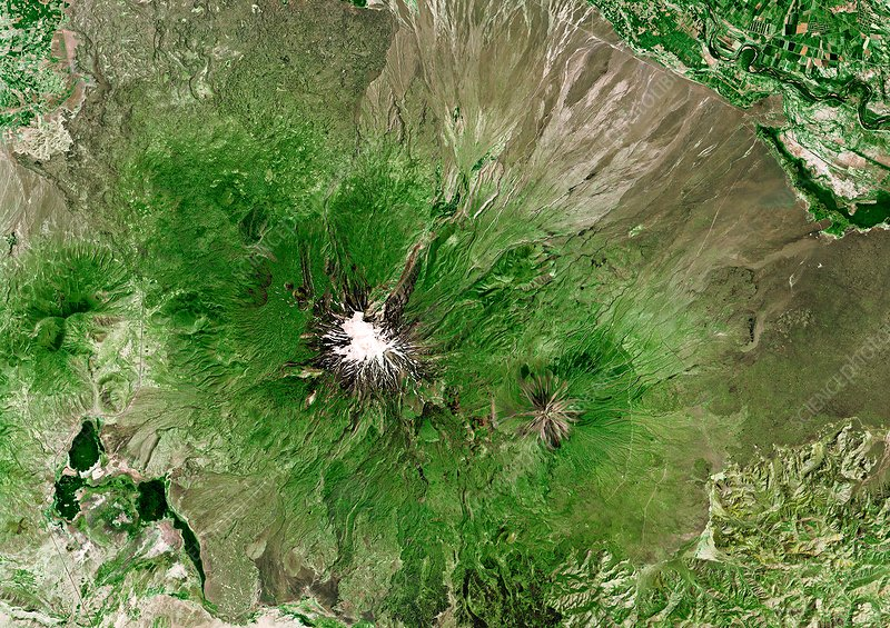 Mount Ararat, satellite image