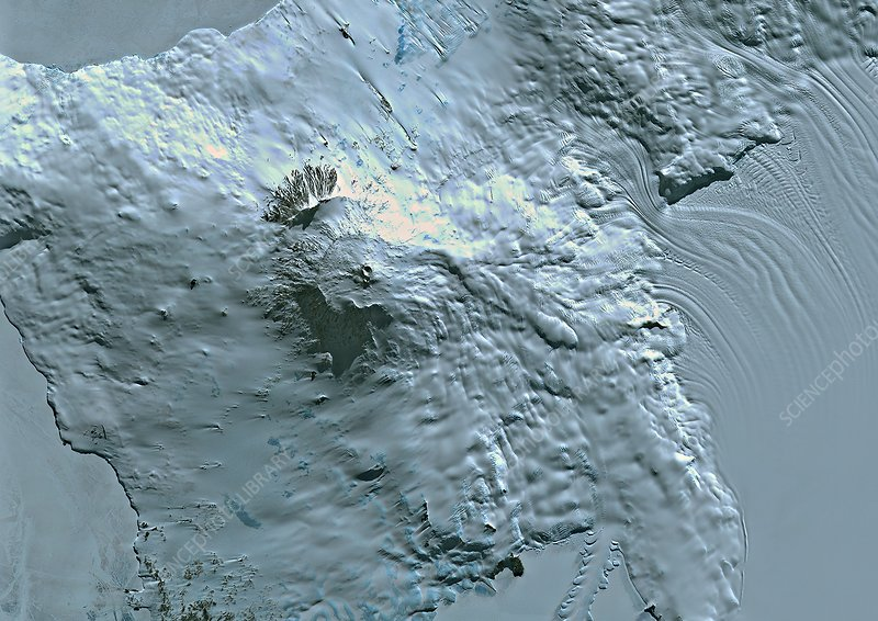 Mount Erebus, satellite image