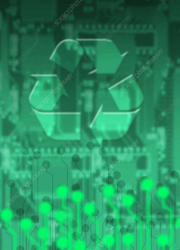 Electronics recycling, artwork