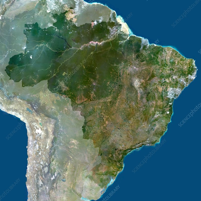 Brazil, satellite image