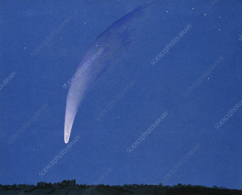 Comet of 5th October 1858, artwork