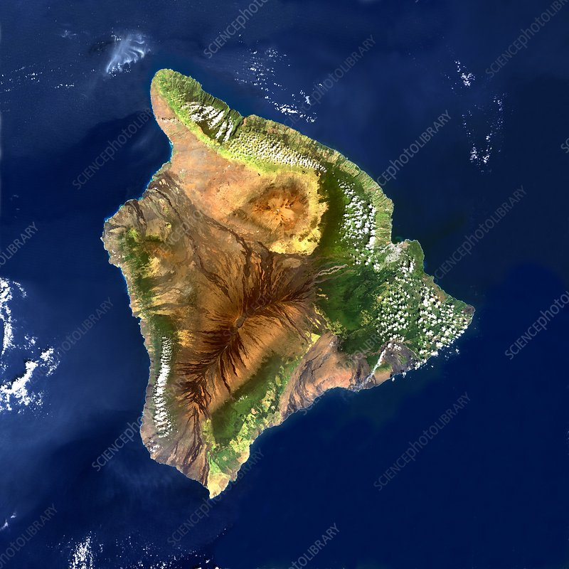 Hawai'i, satellite image