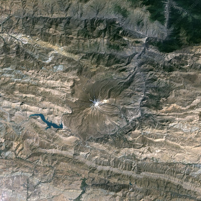 Mount Damavand, satellite image