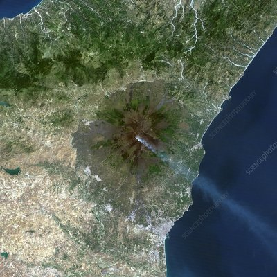 Mount Etna, satellite image