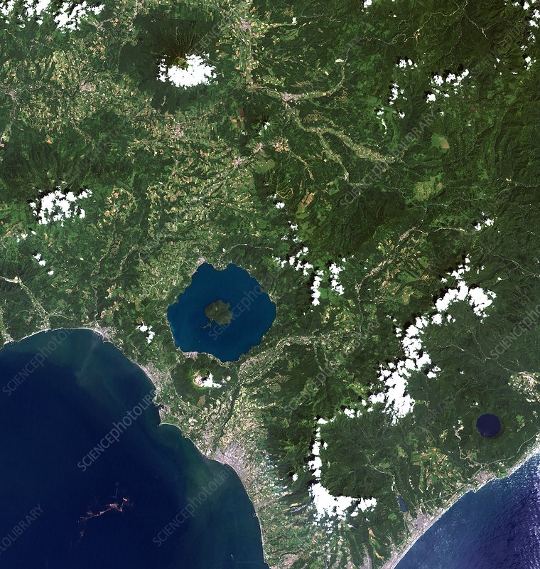 Mount Usu, satellite image