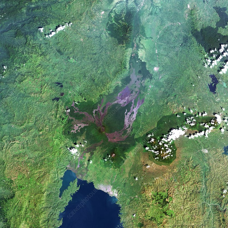 Mount Nyiragongo, satellite image