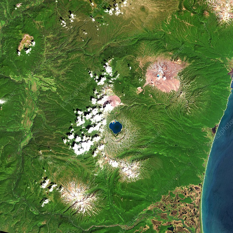 Russian volcanoes, satellite image