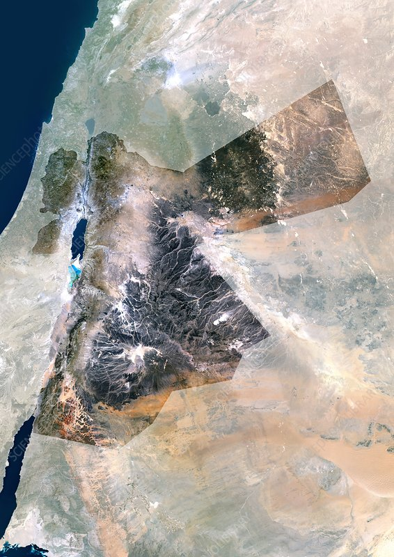 Jordan, satellite image