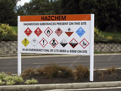 Dangerous chemicals warning sign