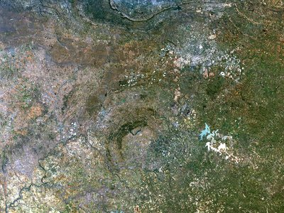 Vredefort crater, satellite image