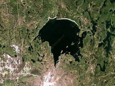 Lake Wanapitei, satellite image