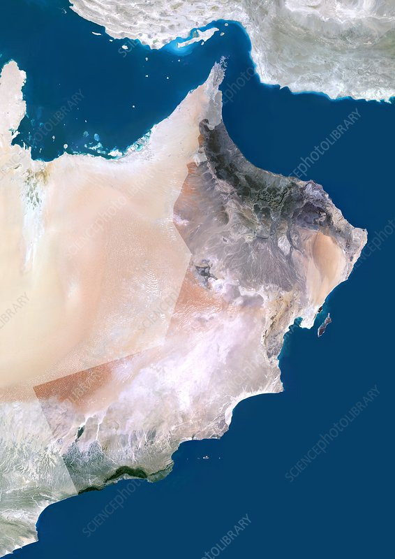 Oman, satellite image