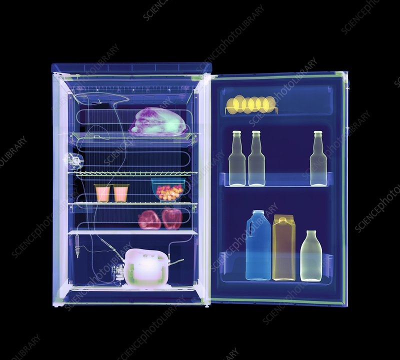 Fridge, coloured X-ray