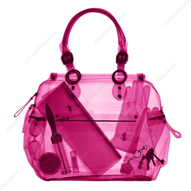 Handbag, coloured X-ray