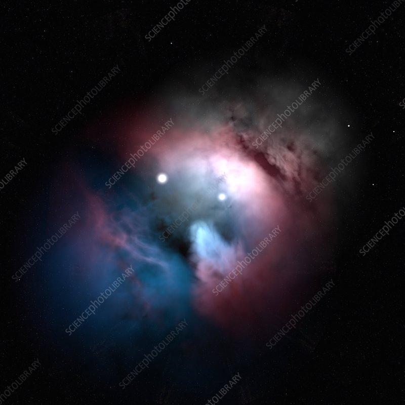 Emission nebula, artwork