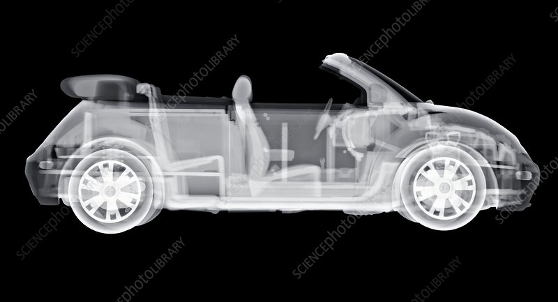 Convertible car, X-ray