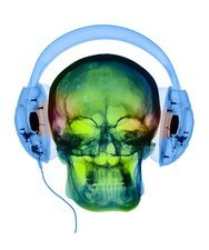 Using headphones, Coloured X-ray