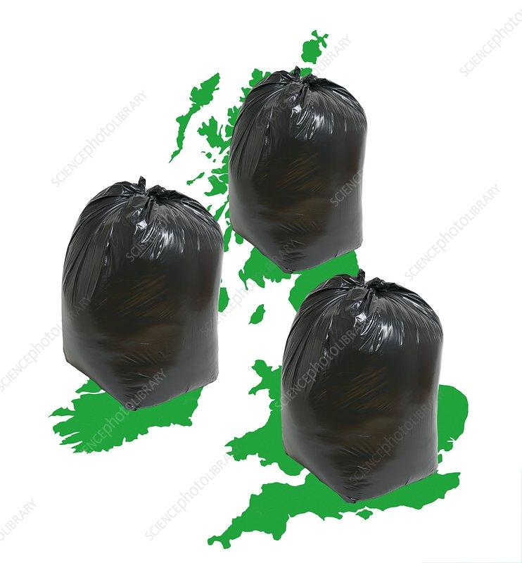 UK refuse, conceptual image
