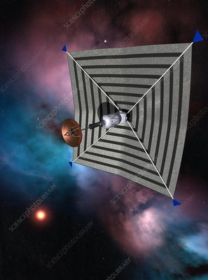 Solar sail spacecraft, artwork