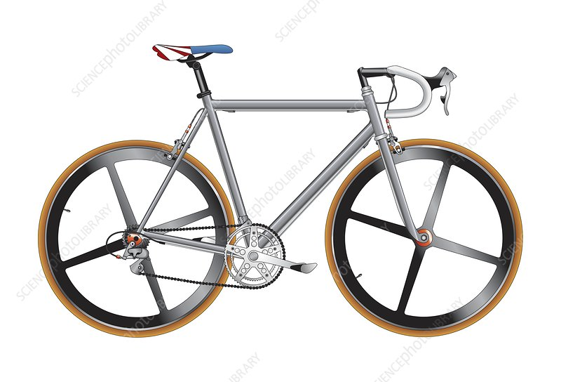 Road bike, artwork