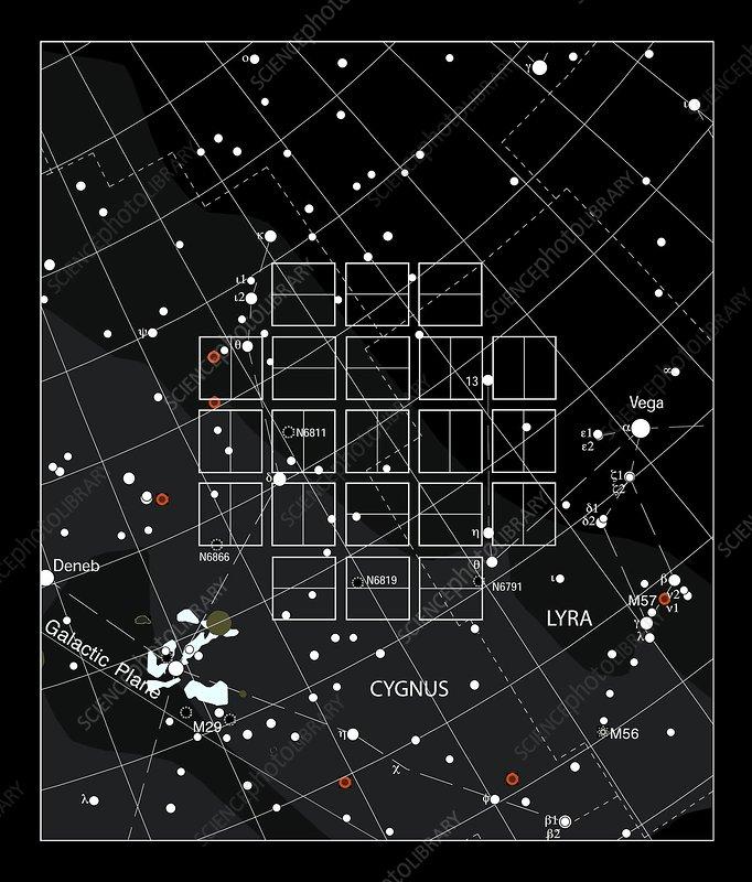 Kepler space telescope field of view