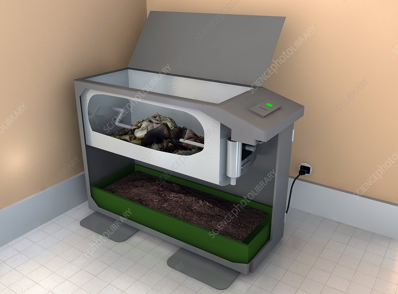 Electronic indoor composter, artwork