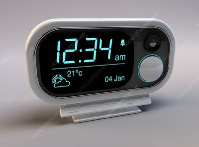 Digital alarm clock, artwork