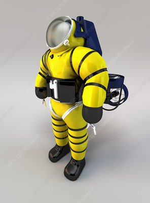 Newtsuit rescue diver, artwork
