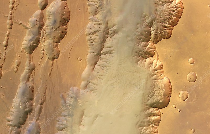 Coprates Chasma and catena, Mars
