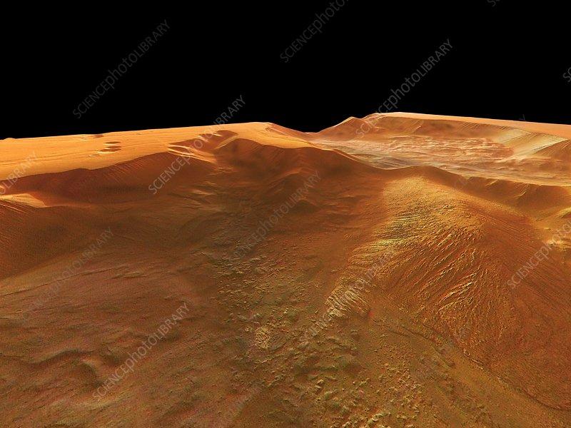 Tithonium Chasma, Mars