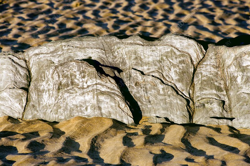 Sand patterns at low tide
